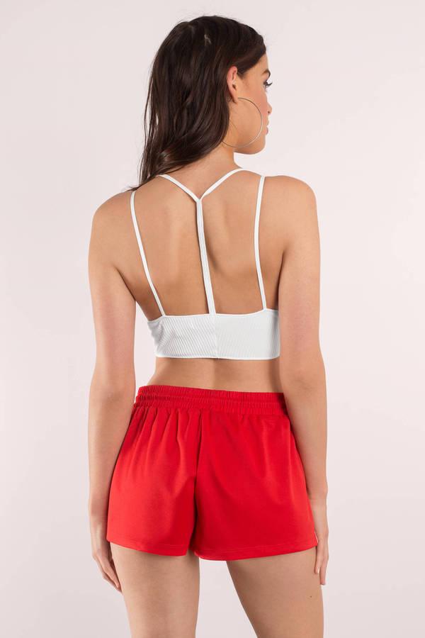 Cute Red Shorts - Track Shorts - Drawstring Shorts - Red Shorts ...
