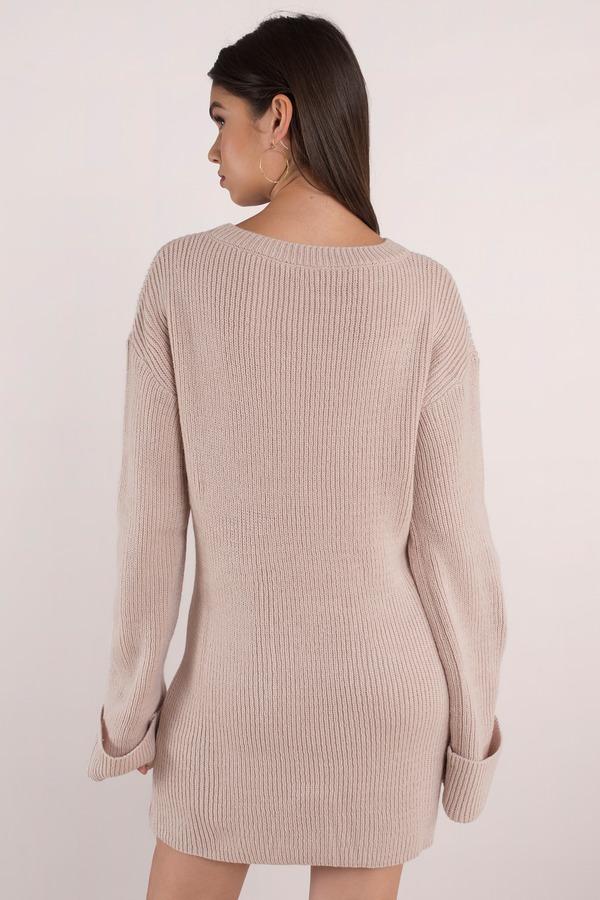 6da43f7f0e9 Cute Rose Dress - Long Sleeve Dress - Cuffed Sleeve Dress - £29 ...