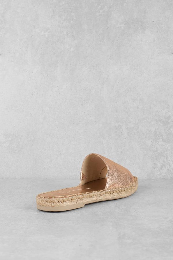 23f0cfc5f88 Pink Sandals - Casual Slides - Pink Metallic Espadrilles -  37