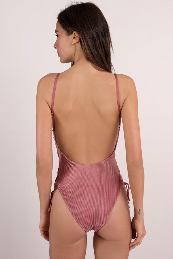 84b7fe27cc Blue Life Mermaid Swimsuit - Pink Monokini - Ribbed One Piece - AU ...