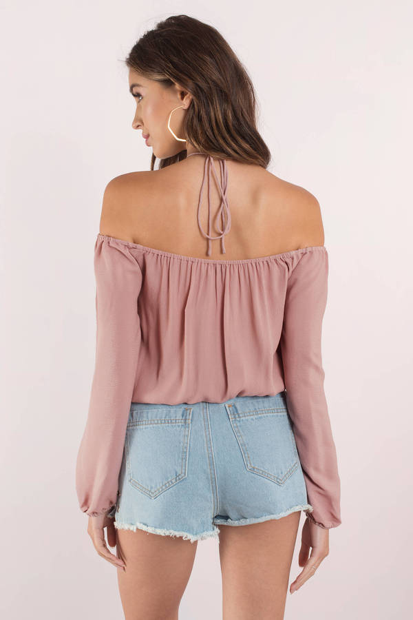 9762b5d1b62 Pink Blouse - Off Shoulder Top - Pink Strappy Blouse - $17 | Tobi US