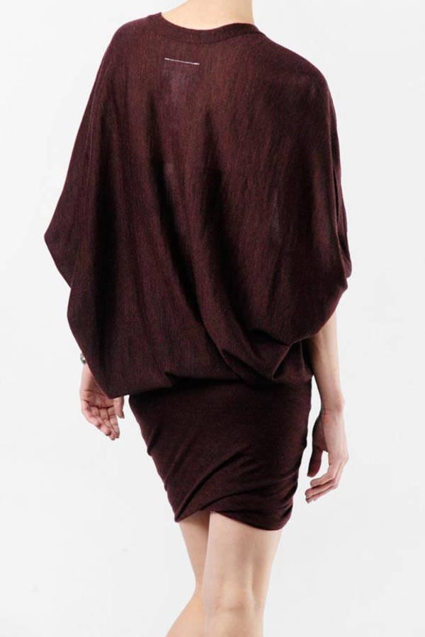 fd08230e8 Lovely Red Mini Dress - Batwing Dress - Red Wool Dress - $154 | Tobi US
