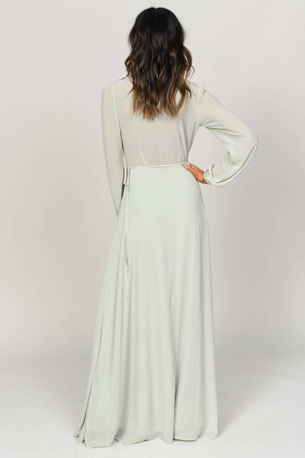 d46e849e5d Cherish Me Sage Plunging Maxi Dress -  43