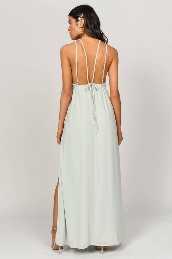 8d4414409b34 Starry Sky Sage Plunging Maxi Dress - C$ 53   Tobi CA