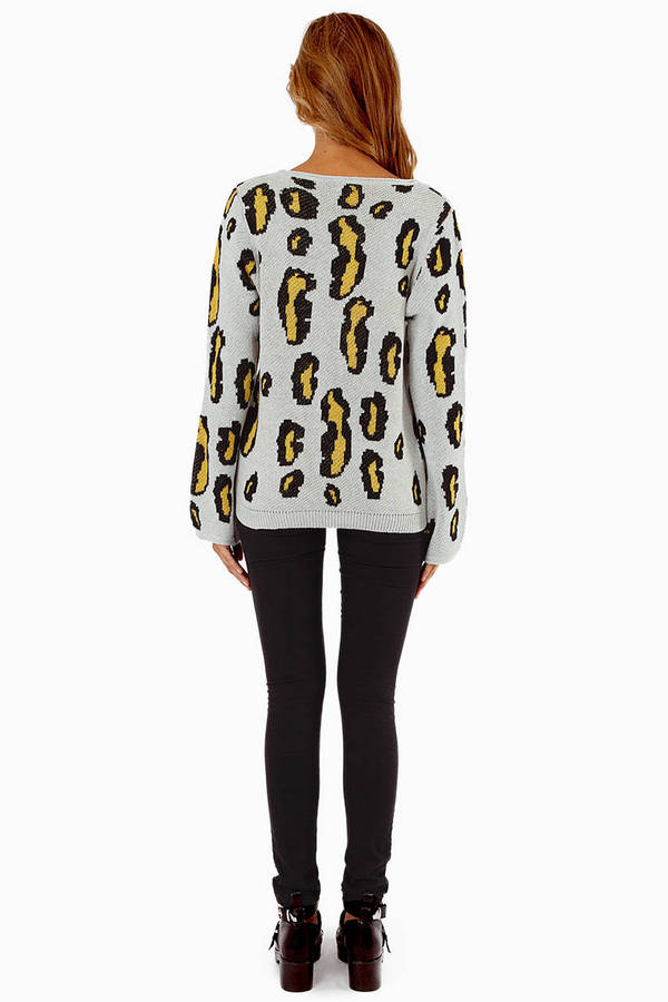 Free Shipping Sites >> Sand Sweater - Leopard Sweater - Animal Print Sweater - $17 | Tobi US