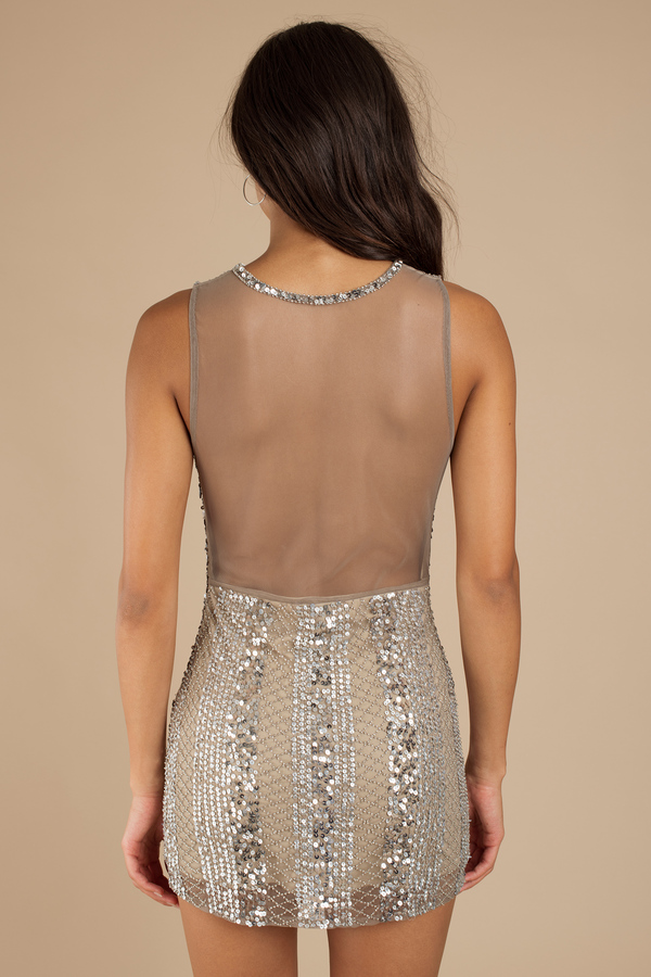 Beaded Shoulder Dress