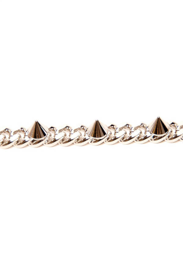 Spiked to the Curb Chain Bracelet