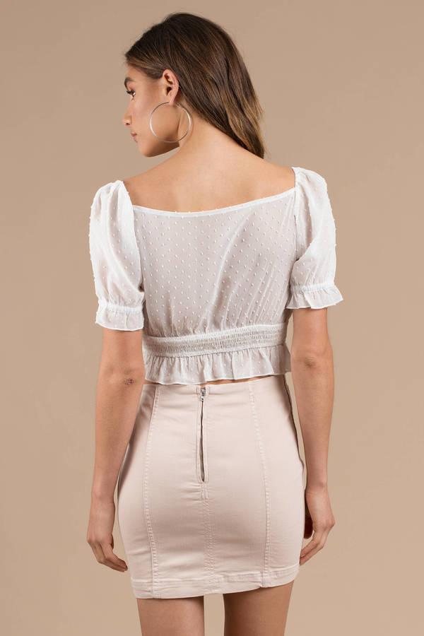 afb553153 ... Free People Free People Modern Femme Stone Denim Skirt ...