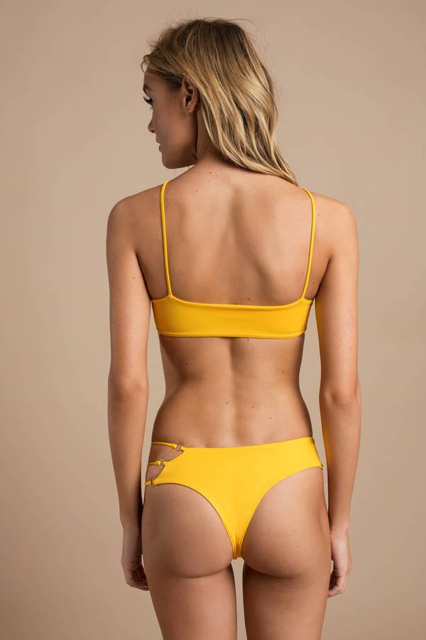 f7e814139f Yellow Bikini Bottom - Sexy High Waisted Bathing Suits - Yellow ...