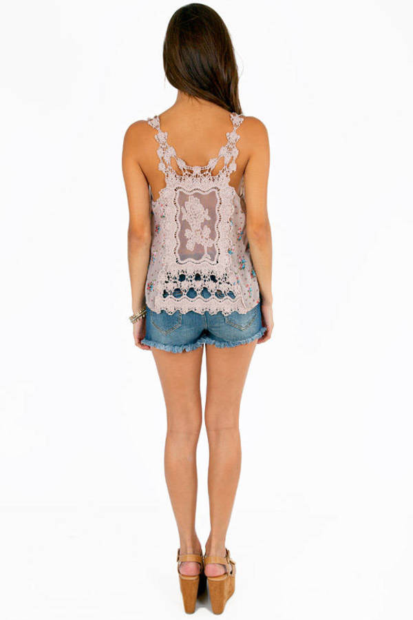 Crochet and Carnation Tank Top
