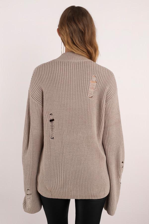 Black Sweater Extra Long Sleeve Sweater Black