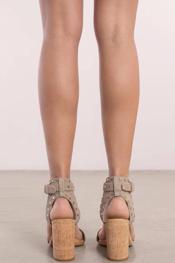 Essie Suede Ankle Strap Heels
