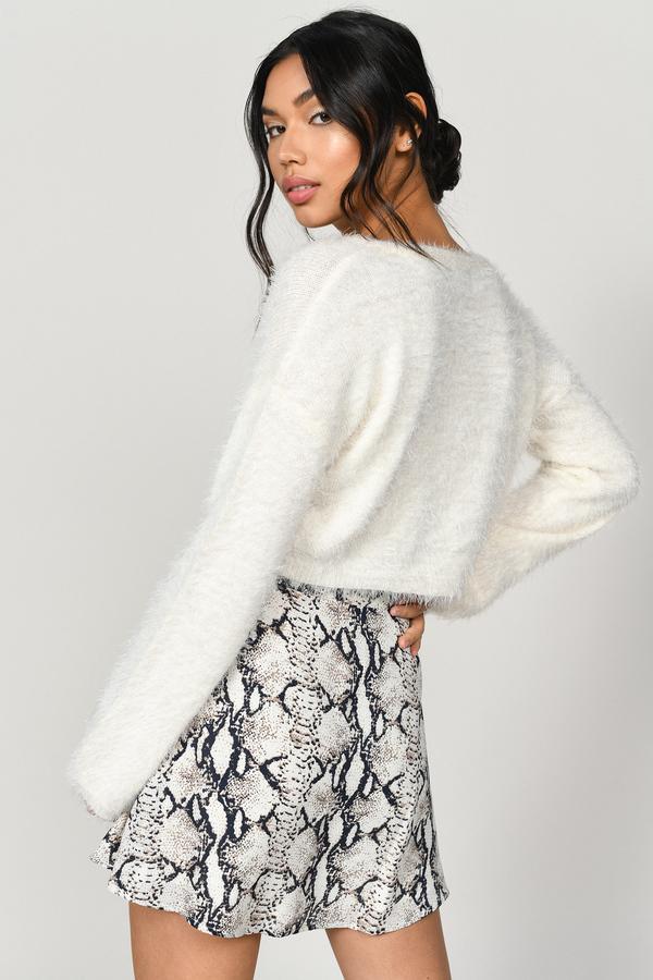 49907587f Beige Skirt - Circle Skirt - Beige Snake Print Skirt - $13 | Tobi US
