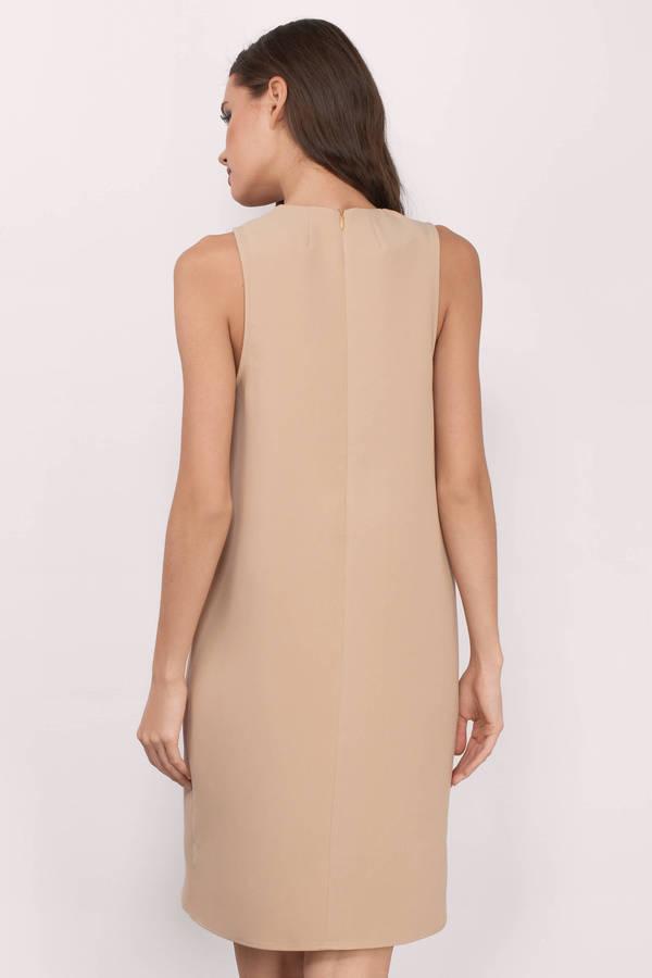 2672eba0de Cute Toast Shift Dress - Mock Neck Dress - Shift Dress - € 17