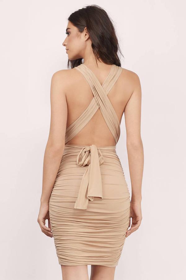 Sexy beige dress