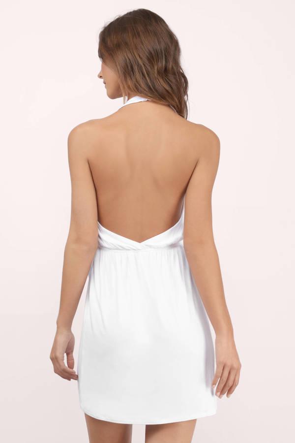 1d2c4bd2a4dc Cute White Wrap Dress - White Dress - Halter Dress - Wrap Dress ...