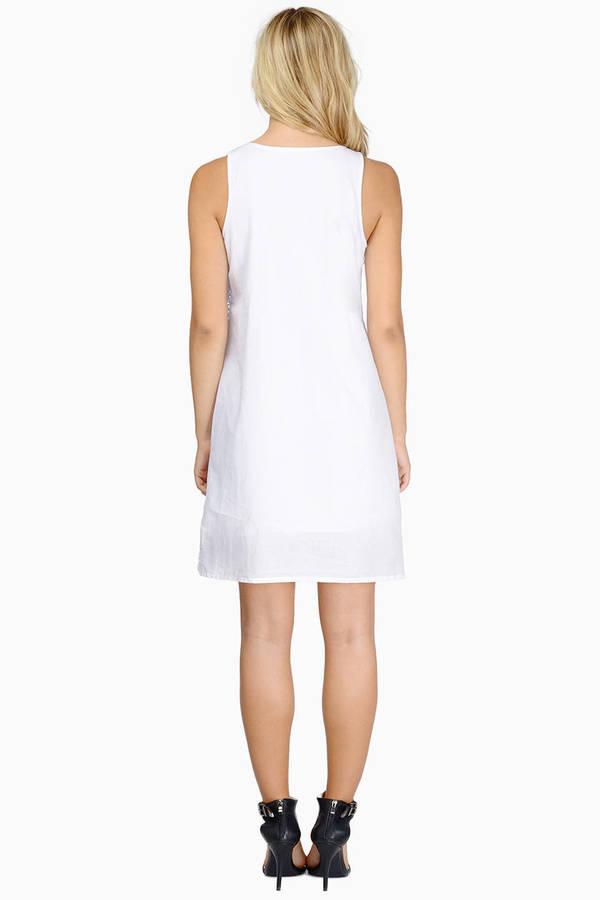 Sexy White Skater Dress Two Tiered Dress 12 Tobi Us