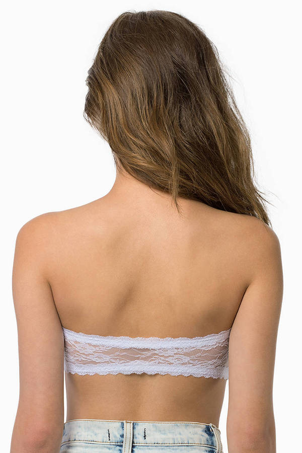 Aquarius Lace Bandeau Top
