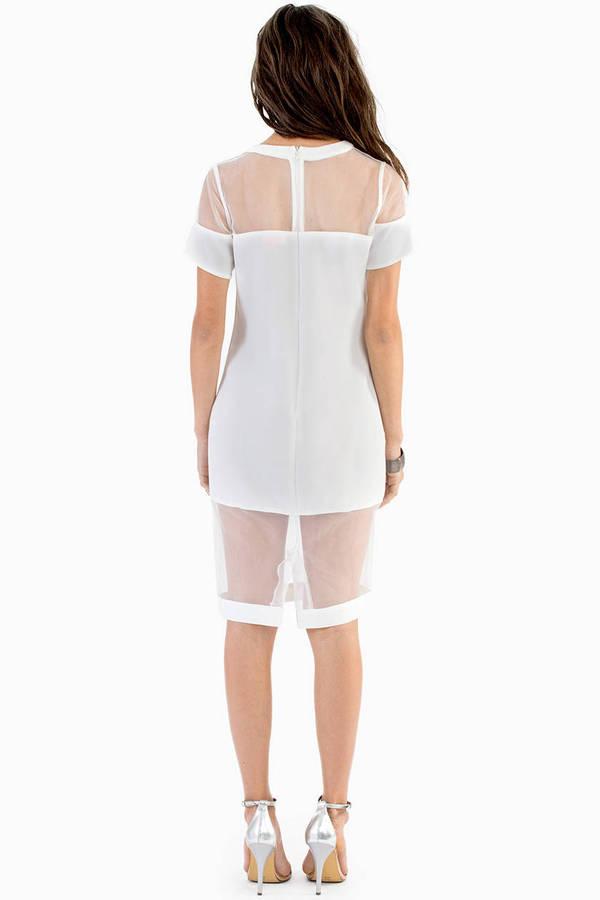 Blocking Organza Dress