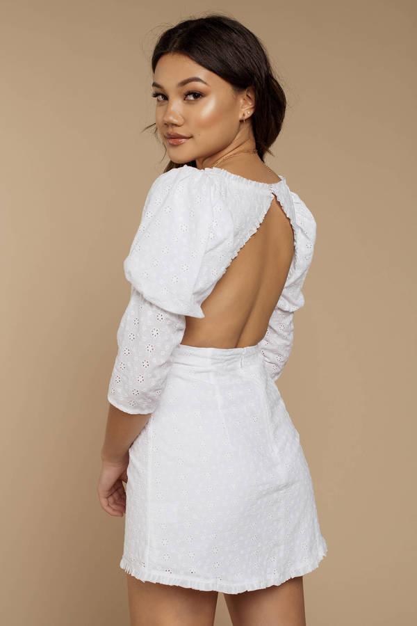 c1b0924359125 ... For Love and Lemons For Love And Lemons Bora Bora White Puff Sleeve  Mini Dress ...