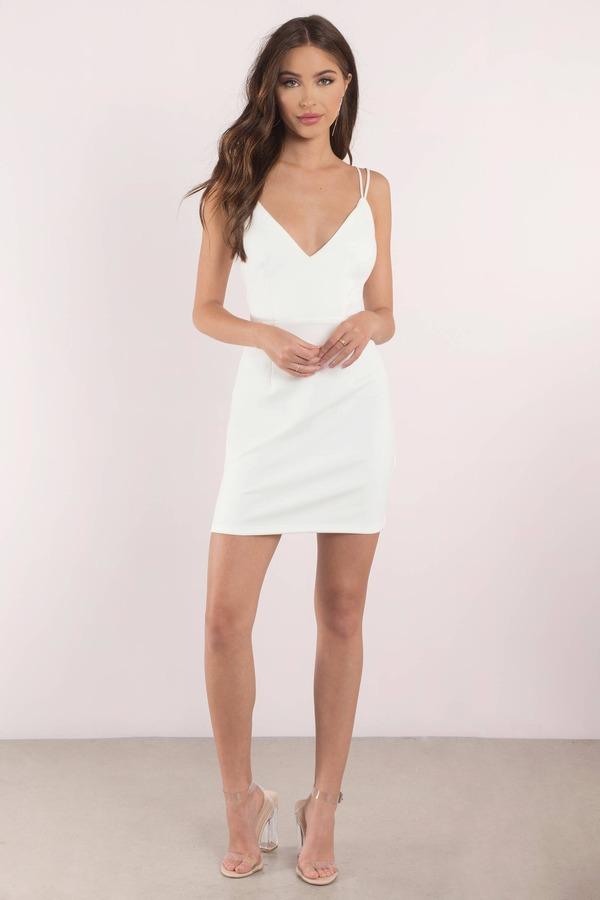 4c2ec1ae57c Sexy Whitedress - Strappy Back - Plunging - Whitedress -  27