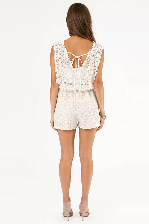 Fall From Lace Romper