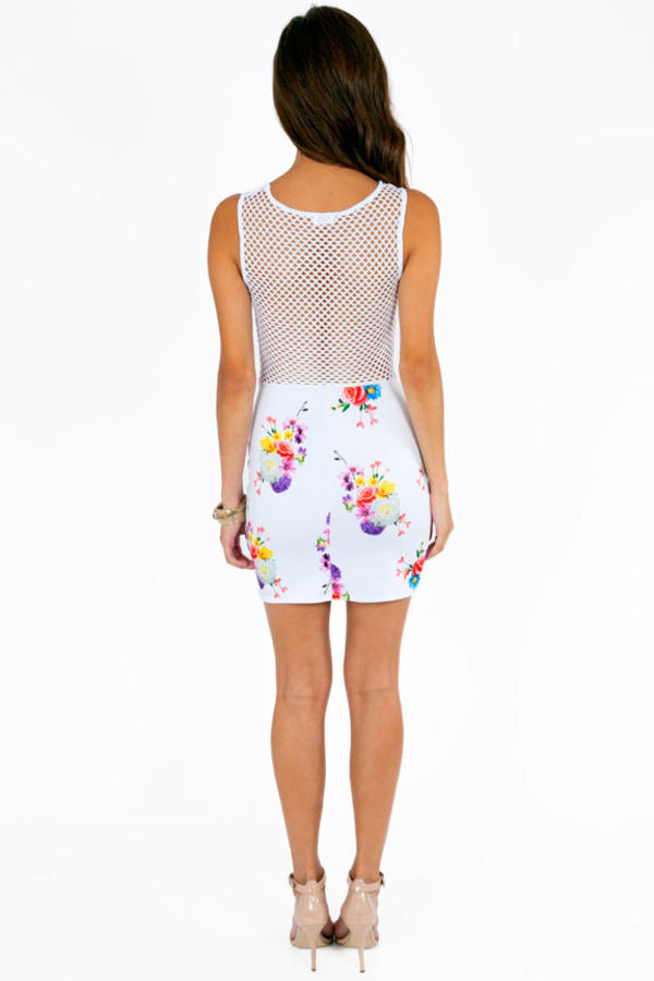 Fishnets and Flowers Dress