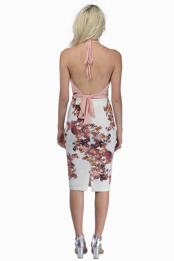 Flower Bombshell Pencil Skirt