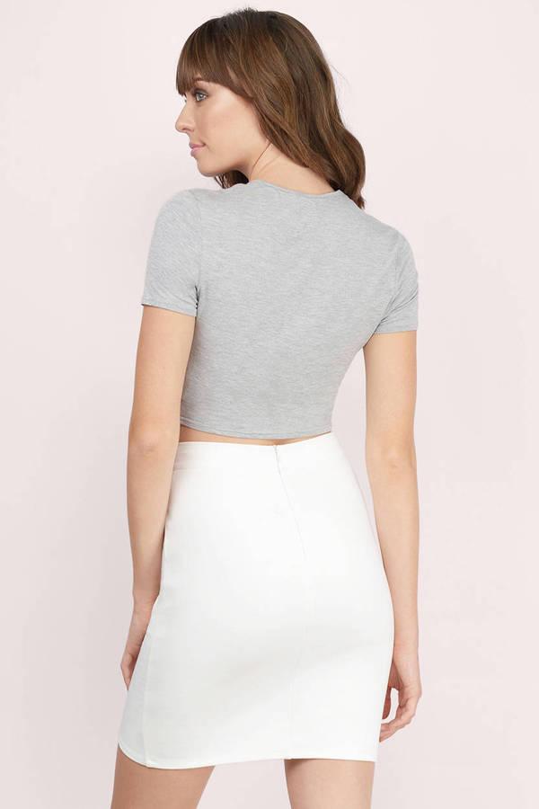 Super White Skirt - Ponte Skirt - Mini Skirt - White Mini Skirt - $54  RQ93