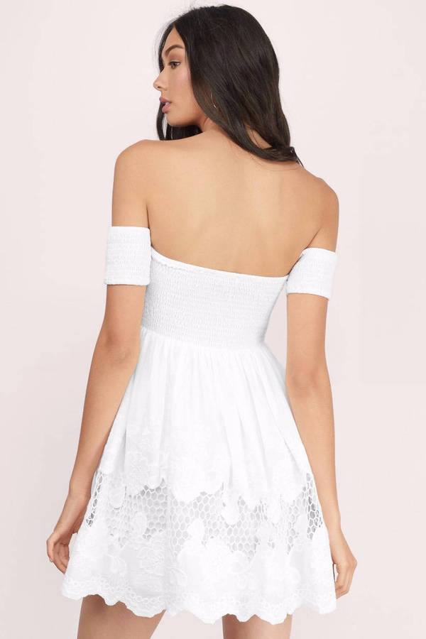 8af5a2e31f Cheap White Skater Dress - Off Shoulder Dress - Skater Dress -  32 ...
