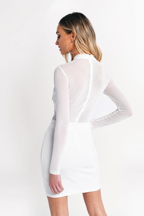 6fc7e57c2b70 White Bodycon Dress - Mesh Mini Dress - White Sheer Dress - $23 ...