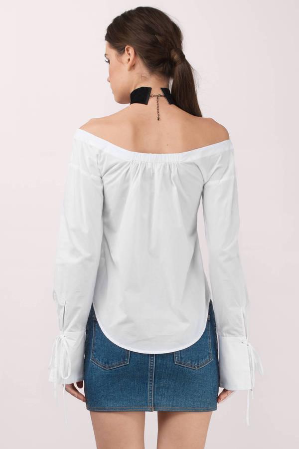 Trendy white shirt bell sleeve shirt white shirt for Bell bottom sleeve shirt