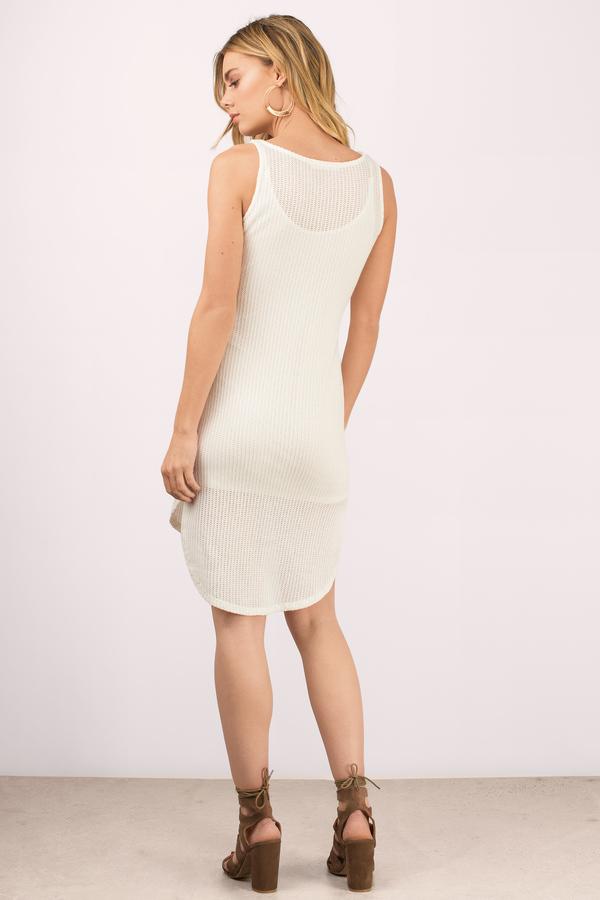 1830023c794 Chic White Day Dress - Ribbed Dress - White Dress - Day Dress -  14 ...