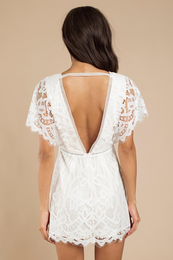 white skater dress kimono sleeve dress white lace