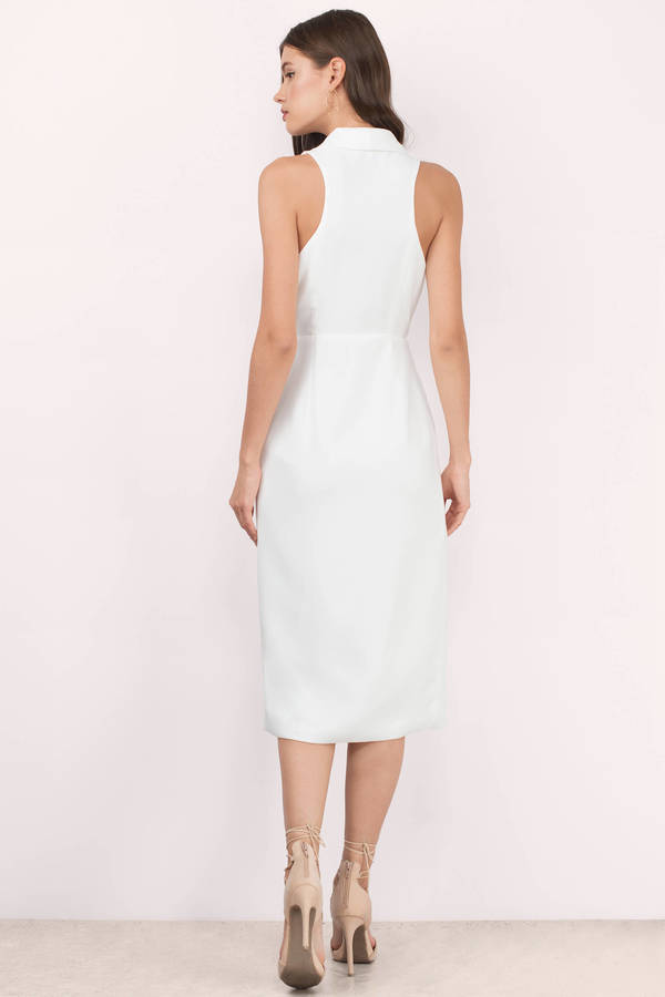 ... Made The Cut White Wrap Dress