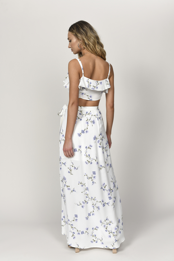 Cute White Multi Skirt - Wrap Skirt - White Skirt - $72.00