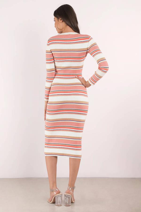 Levi Striped Midi Dress