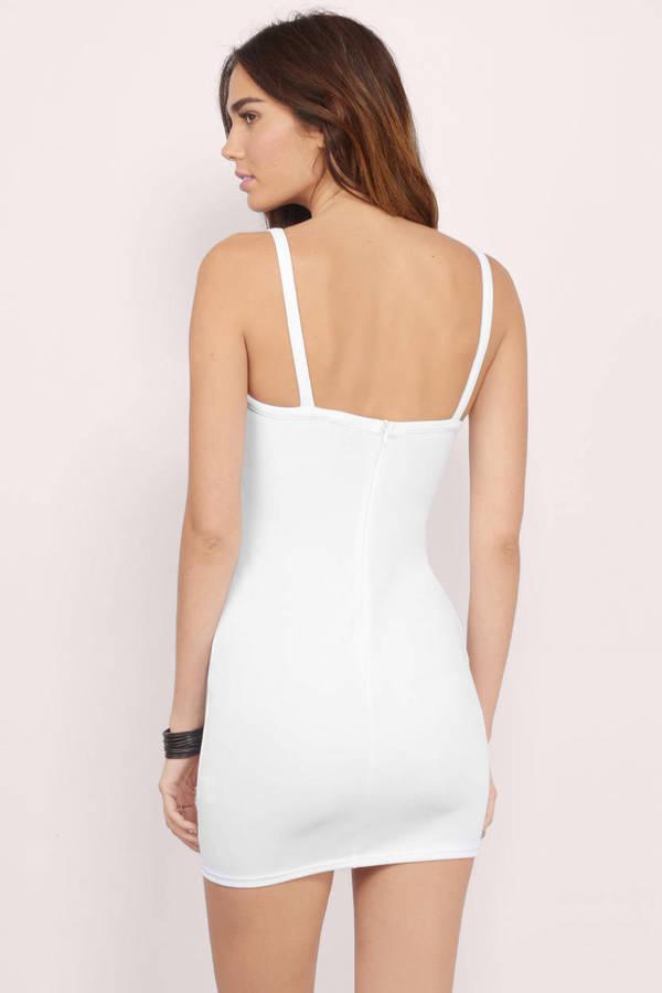 4844a5281526 Sexy White Bodycon Dress - Cut Out Dress - AU  14
