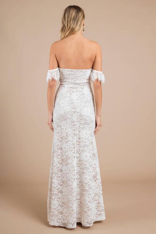 54389d2a663 One Way White Lace Slit Maxi Dress -  47