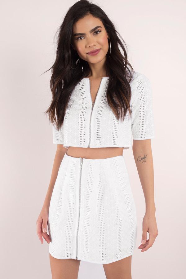 a3cfeb4b2 Trendy White Skirt - High Waisted Skirt - Mini Skirt - White Skirt ...
