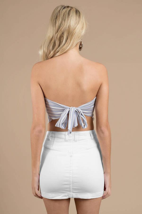 b9c2c7a91b6e White Free People Skirt - Jean Skirt - White Denim Skirt - Mini ...