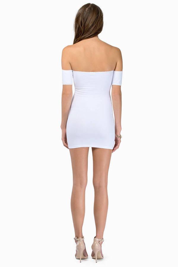 Showing Shoulders Bodycon Dress