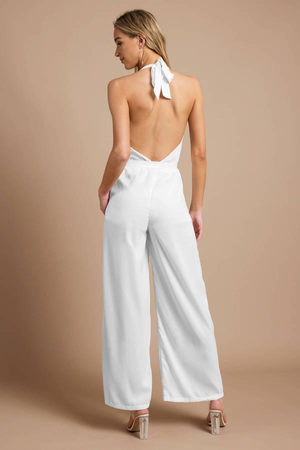 287d1be8287 White Jumpsuit - Beach Jumpsuit - White Wide Leg Jumpsuit - £40 ...