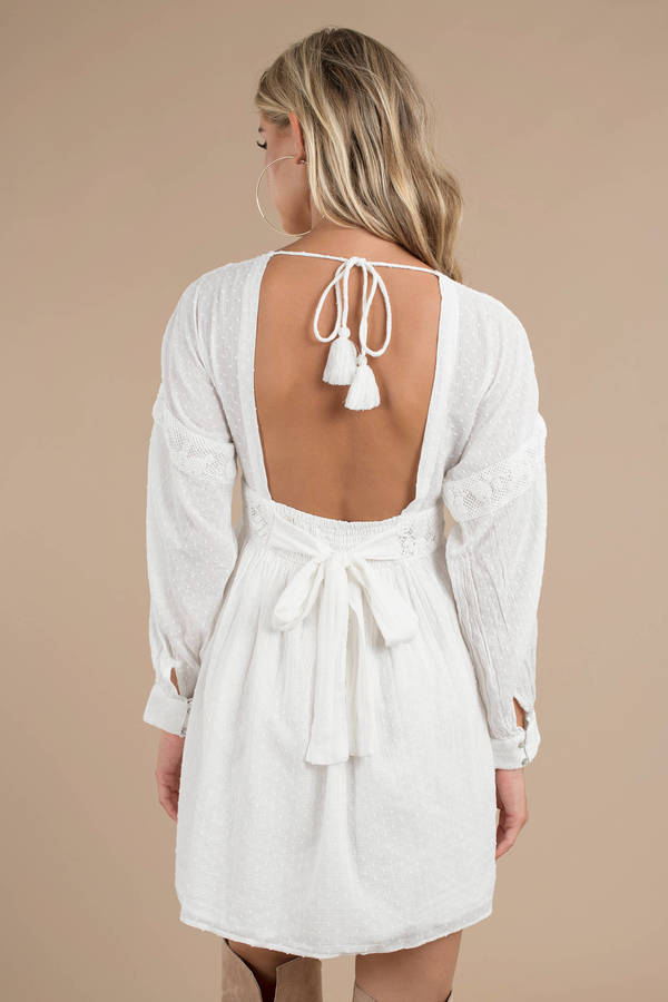 7b75f7c1afcf ... Free People Free People Sugarpie White Mini Dress ...