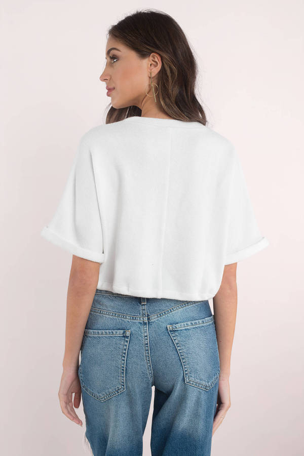 a130a04e5e9 Cute White Top - Front Tie Top - White Crop Top - $8 | Tobi US