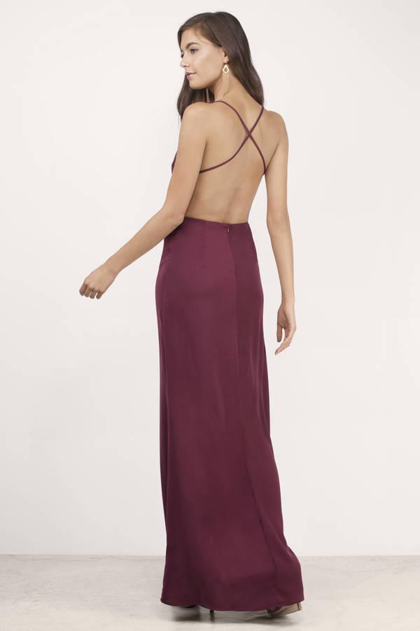 bold move wine maxi dress