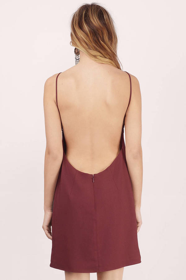 Low Back Shift Dress