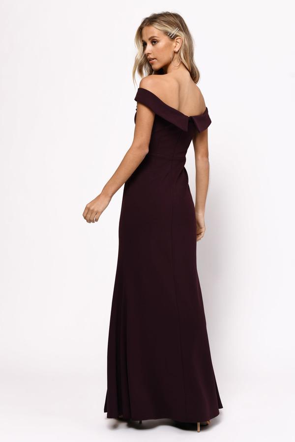 760551245a11 Black Maxi Dress - Open Shoulder Maxi Dress - Black Evening Dress ...