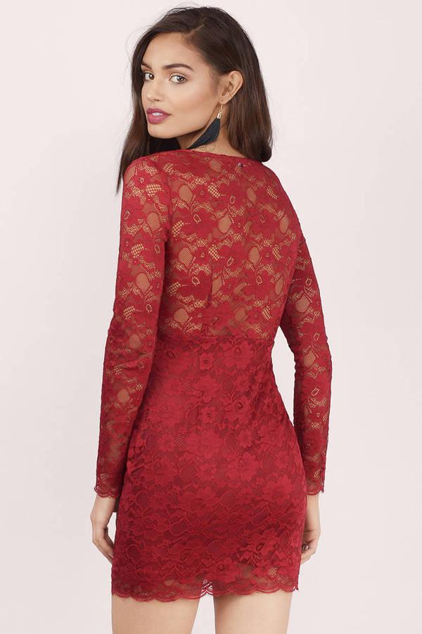 Wine Bodycon Dress - Red Dress - Sleeveless Dress - $74.00