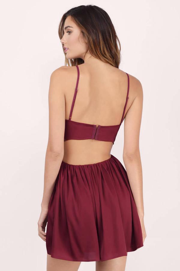 Black Skater Dress - Black Dress - Sweetheart Dress - $16.00